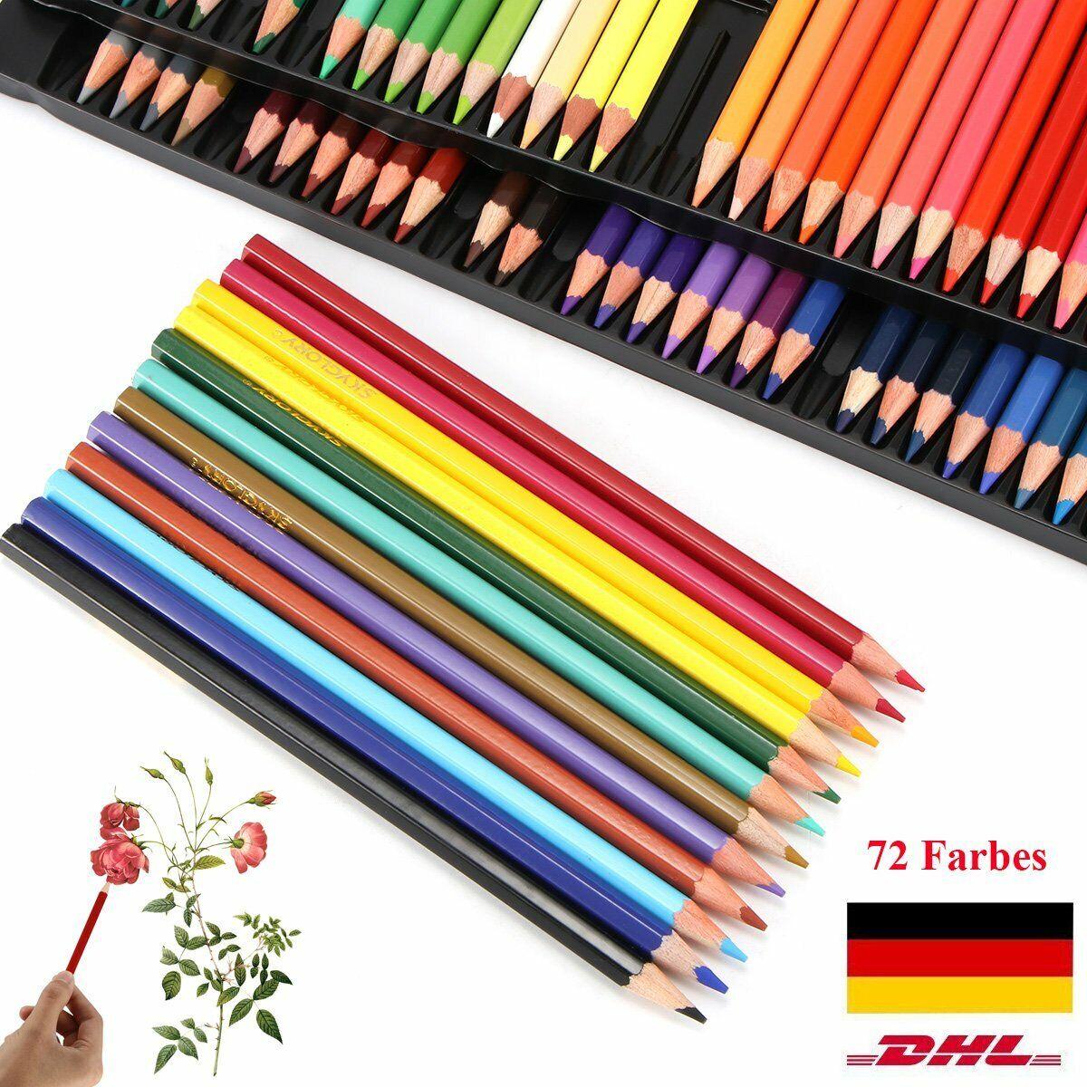 72 tlg Set Buntstifte Farbstifte Malstifte Zeichenstifte Buntstift Malstift Etui