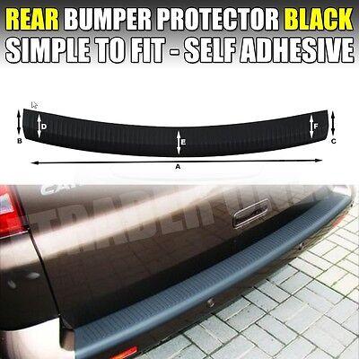 VW VOLKSWAGEN TRANSPORTER T6 2015 + REAR BUMPER PROTECTOR BLACK STRIP GUARD 3M