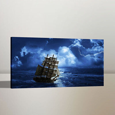 Art Oil Painting Pirates of The Caribbean Home Wall Decor Canvas Print 12x22 - Caribbean Decor