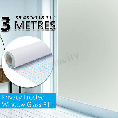 "36"" x 10 FT Static PVC Frosted Privacy Home Decor Window Door Glass Tint Film"