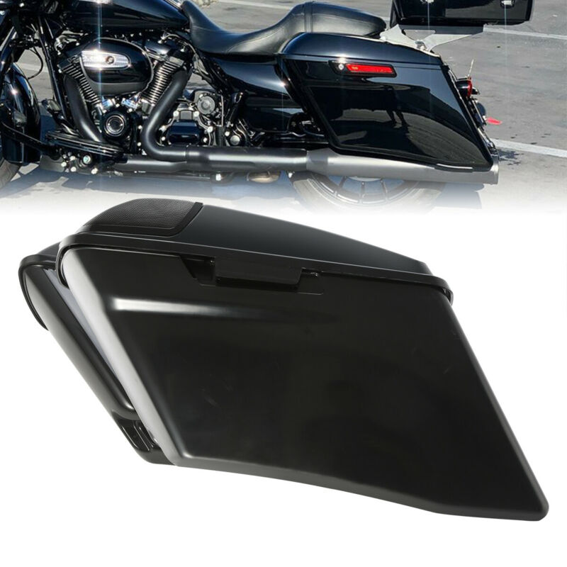 or Harley Touring 14-18 latch kit and lock sets Painted Saddlebags Without Hardware 5 Complete Black Painted//Unpainted Extended Stretched Saddlebags Saddle bag With or Without Hardware