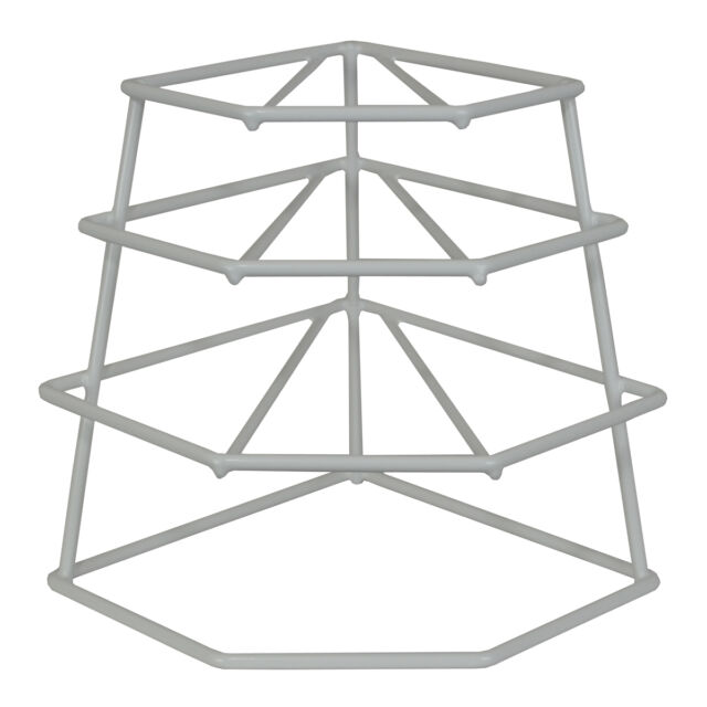 Delfinware 4 Tier Plate Stacker White Cupboard Storage Rack New