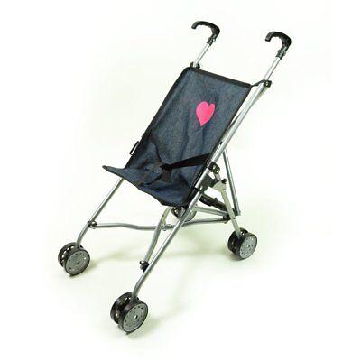 My First Umbrella Doll Stroller in Denim for Toddler Color-Black(Unique-Quality) - Pram Doll Stroller