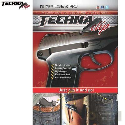 Techna RUGER LC9s E9Cs Belt CLIP IWB Conceal Carry RH LC9S-BR *FAST SHIP*!!