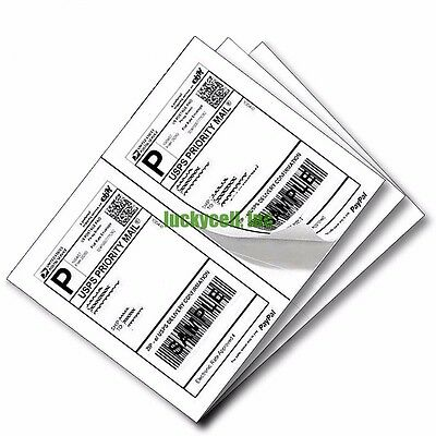 Labels 8.5x5.5 200 Shipping 8.5x5.5 Half-Sheet Self Adhesive Wood Free Paper