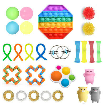 Fidget Toy Blind Box 27pc Assorted Fidget Gadgets For Kids Teens Adults