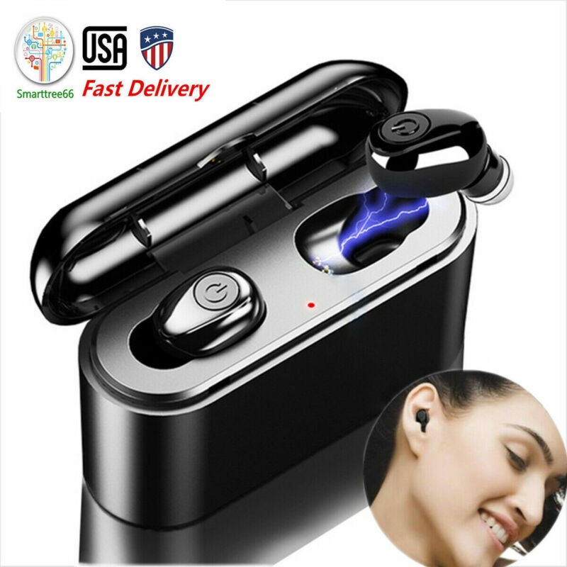Earphone Headphone3000mah TWS Bluetooth Earbud Headset Wireless Earphone US