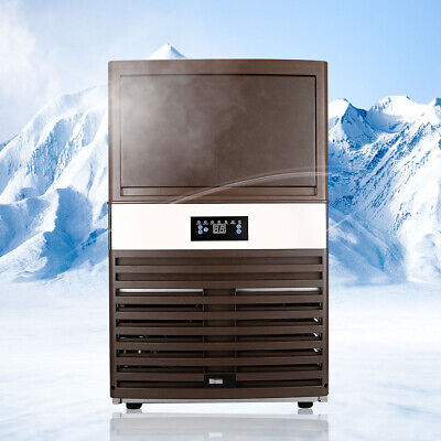 Commercial Ice Maker Machine 130lbs60kg Ice Cube Machine Storage Capacity 18kg