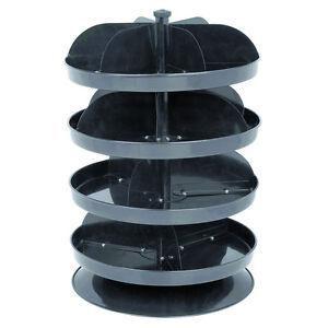 Revolving Spinning Small Parts Bin Storage Rack Steel