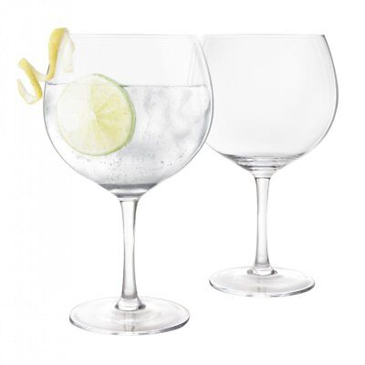 Final Touch Gin and Tonic Large Glass Pack G&T Balloon Glasses Set 2x 400ml UK