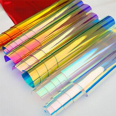 Transparent Materials (Iridescent Holographic Clear Transparent PVC Fabric Vinyl Material Bow Craft)