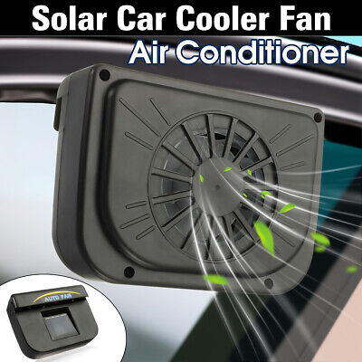 Solar Powered Car Window Windshield Auto Air Vent Cooling Fan Cooler System US ()
