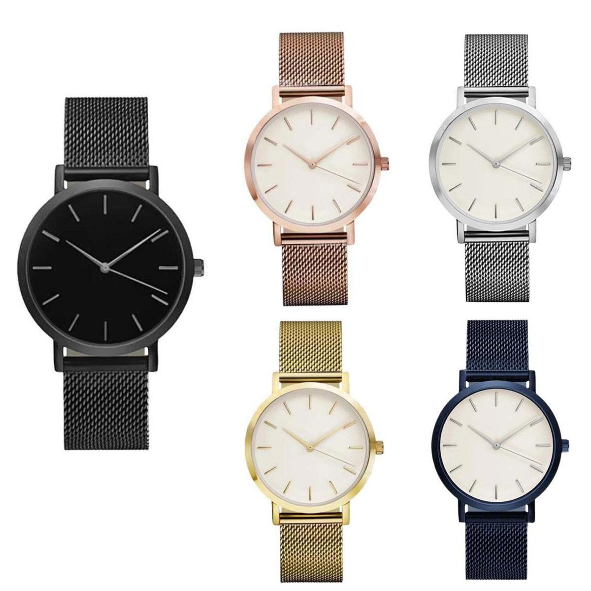 Classic Women's Men's Wrist Watch Steel Strap Quartz Casual Watches Wrist Watch