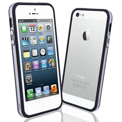 iPhone 5 5S SE Bumper Hülle Schutz Case Handy TPU Tasche Design Rahmen schwarz Design Apple Iphone
