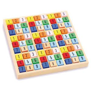 Sudoku Holz Brettspiel Zahlenspiel Holzspiel Reisespiel Kinder Spiel