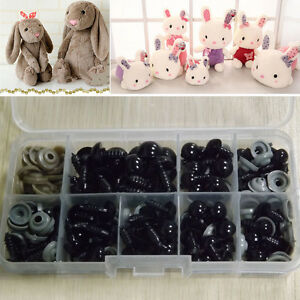 100Pcs Black Plastic Safety Eyes Toy for Teddy Bear Doll Animal Making Craft DIY
