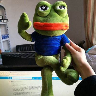 18'' Pepe The Frog Sad Frog Plush 4chan Kekistan Meme Doll Stuffed Toy