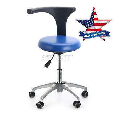 Usa Dental Dentist Doctor Assistant Stool Adjustable Mobile Chair Pu Leather New