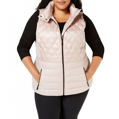 CALVIN KLEIN Women's Performance Plus Size Quilted Puffer Ve