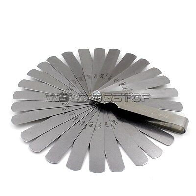 Tappet Valve Feller Feeler Gauge Set 26 Blades Metric Inch Thickness Gage Set