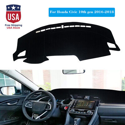 DashMat Car Dash Board Cover Dashboard Mat Fit Honda 10th Gen Civic 2016-2018