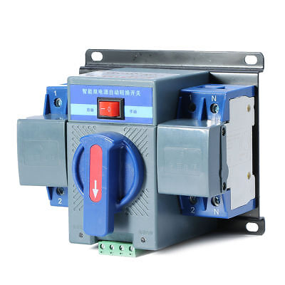 Dual Power Automatic Transfer Switches Switch For Generator 220v 63a 2p 5060hz