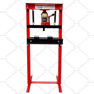 Hydraulic Shop Press Floor Press 12 Ton  H Frame *** Free Shipping ***