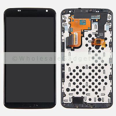 Motorola XT1100 XT1103 Google Nexus 6 LCD Display Touch Screen Digitizer + Frame