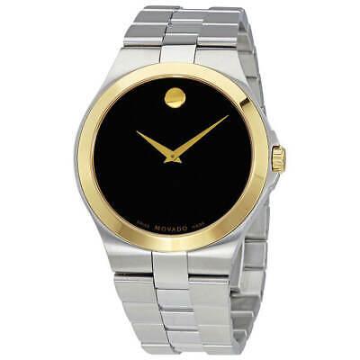 Movado Men's Watch Museum Classic Quartz Black Dial Silver Tone Bracelet 606909