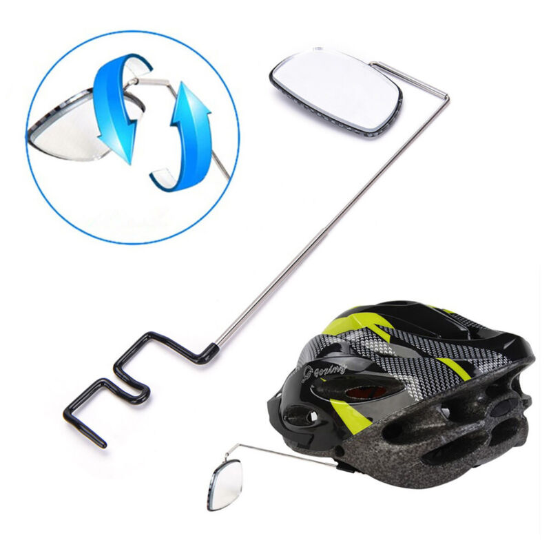 US Bike Bicycle Cycling Riding Mirror Helmet Mount Rearview