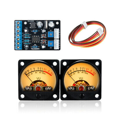 2pcs Vu Meter Panel Amplifier Db Sound Level Led Display Driver Board Module