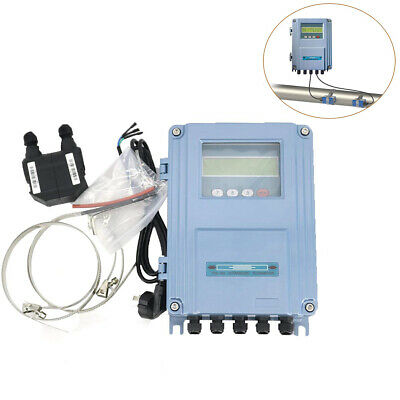 Wall Mount Ultrasonic Flow Meter Water Flowmeter Dn15 To 100mm Small Size Sensor