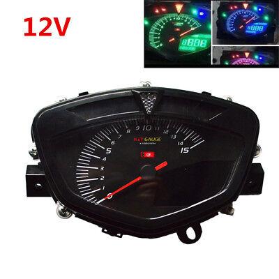 80MM Motorcycle LCD Digital Speedometer Gauge w/ Dual Range Odometer Tachometer