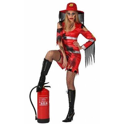 Faschingskostüme Frau rot Feuerwehrmann Kleid sexy halloween Fest teatro Kleid