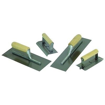 4 Piece Concrete (NEW 4 Piece Concrete Cement Hand Trowel Finishing Tool Set FREE SHIP FROM USA )