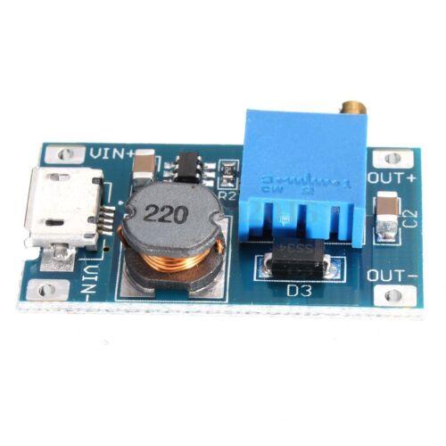 2V-26V DC MT3608 MicroUSB Step Up Boost Voltage Regulator Power Supply Module US