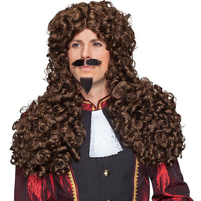 Perücke Barock Edelmann braun Baron Lord Allonge Herren - Herren Edelmann Perücke