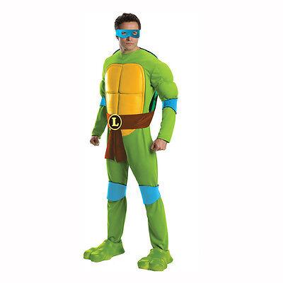 Teenage Mutant Ninja Turtles Leonardo Deluxe Adult Costume Rubies (Deluxe Adult Ninja Kostüm)