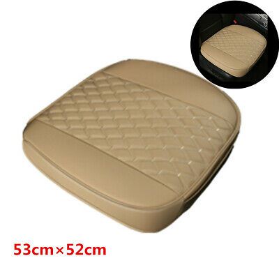 Beige Full Surround Car Front Seat Cover Cushion Breathable Pad PU Leather 1Pcs