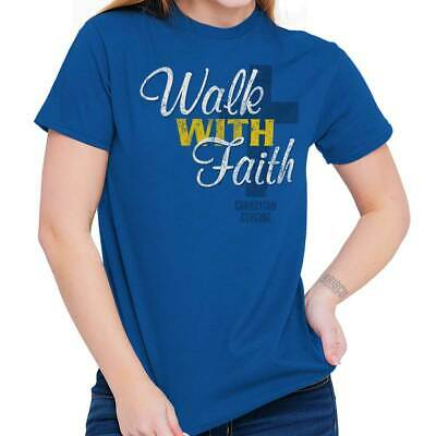 Christian Religious T Shirt Walk With Faith Cross Jesus Pray Faith - Walk With Jesus