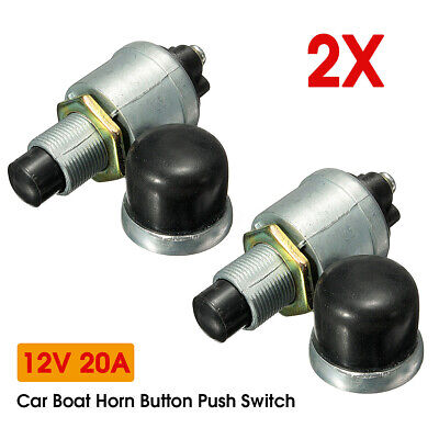 2x Heavy Duty Waterproof Car Boat Horn Engine Start Momentary Switch Push Button