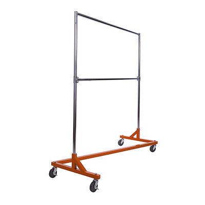 Brand New Z-rack Orange Retail Store Add-on Rail- Hardwareadjust Upright 80
