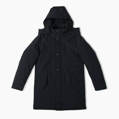 $1650! NWT Men's Aztech Mountain Shadow Parka Nylon Down Jacket Coat Black L