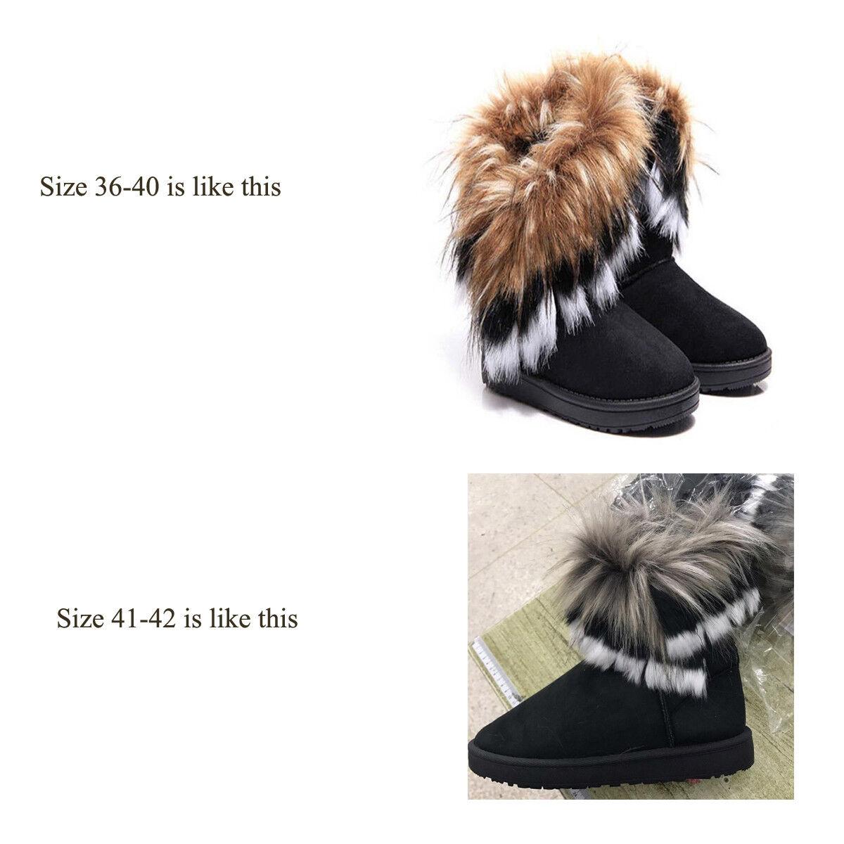Fashion Women Winter Warm High Ankle Snow Boots Rabbit Fur Suede Tassel Shoes