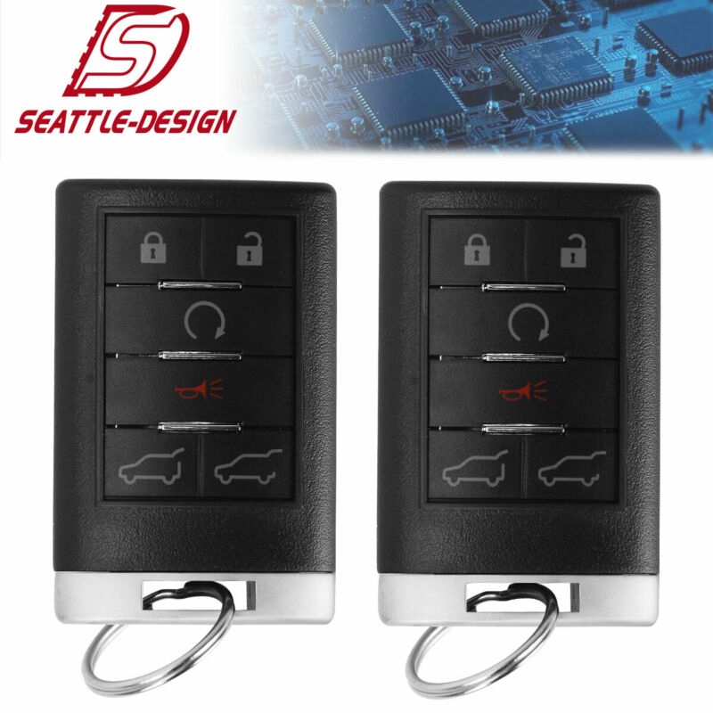 2 Car Key Fob Keyless Remote For 2007 2008 2009 2010 Cadillac Escalade ESV EXT
