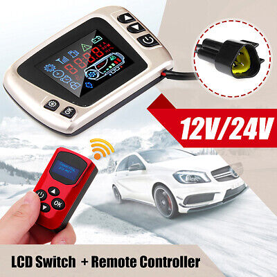 For Diesel Air Parking Heater LCD Thermostat Display Switch Remote Controller