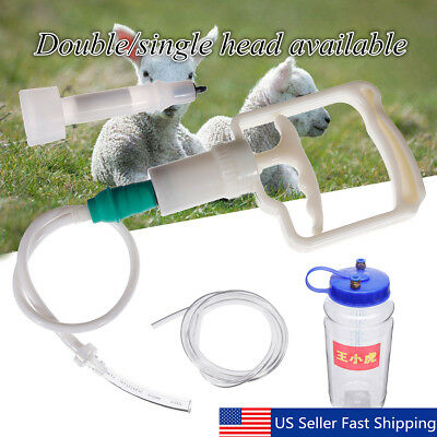 Double Head 2l 12gal Hand Barrel Milking Machine Goat Sheep Vacuum Pump Bucket