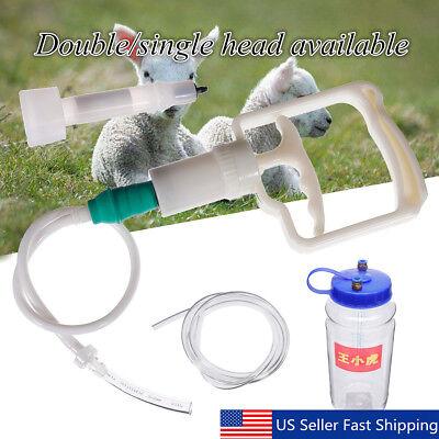 Double Head 2l 12gal Hand Barrel Milking Machine Goat Sheep Vacuum Pump Bucket
