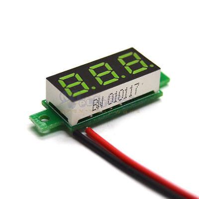 Mini Green Dc 3.5-30v Led Display Digital Voltage Voltmeter Panel Breadboard