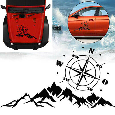 Compass Mountain Tree Vinyl Decal Sticker Fit For Car Body Side Door Hood Bonnet